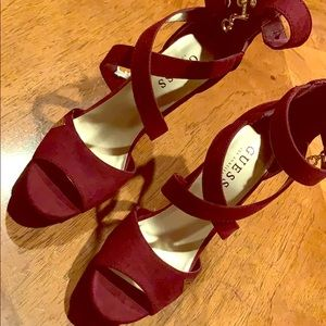 Guess heels , worn only once